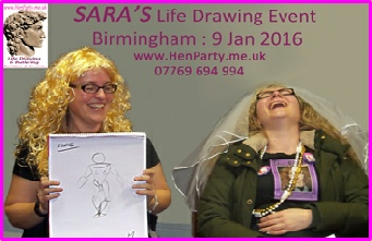 Sara (Right) enjoying her Life Draweing event with her Chief Brides Maid in central Birmingham
