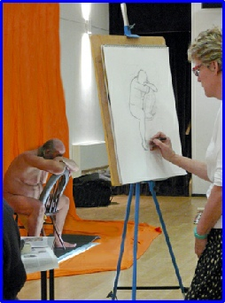 A snap shot from one of the Life Drawing Workshops in Broad Hinton in early 2016