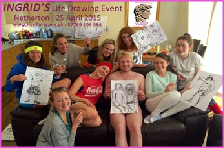 A very satisfied group at their Life Drawing event in the Brides house.
