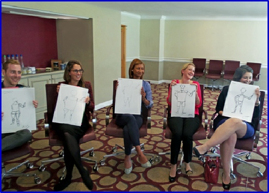Corporate Life Drawing (Ice Breaker) event at the Roayal Berkshire Hotel in Ascot