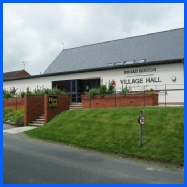 Clean cut lines of the modern Village Hall that will house the Broad Hinton Art Group in 2015